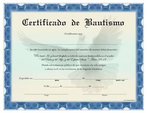 como solicitar la fe de bautismo